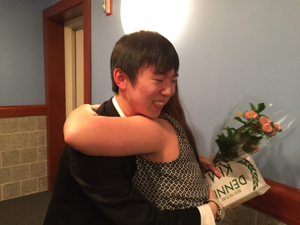 Dennis Kim Congratulated by Jenna Faust